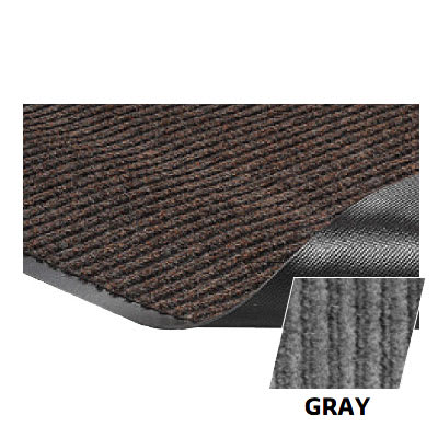 Crown NR0035GY Needle Rib Wiper Scraper Mat, 3 x 5-ft, 5/16-in Thick, Gray