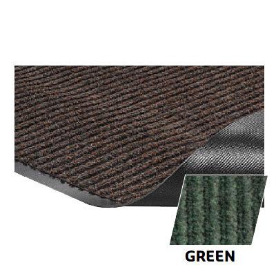 Crown NR0046GR Needle Rib Wiper Scraper Mat, 4 x 6-ft, 5/16-in Thick, Green