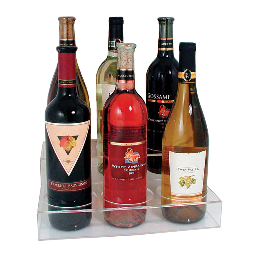 Update ABO-3X2 2-Tier Wine Bottle Display - (6)Bottle, Acrylic