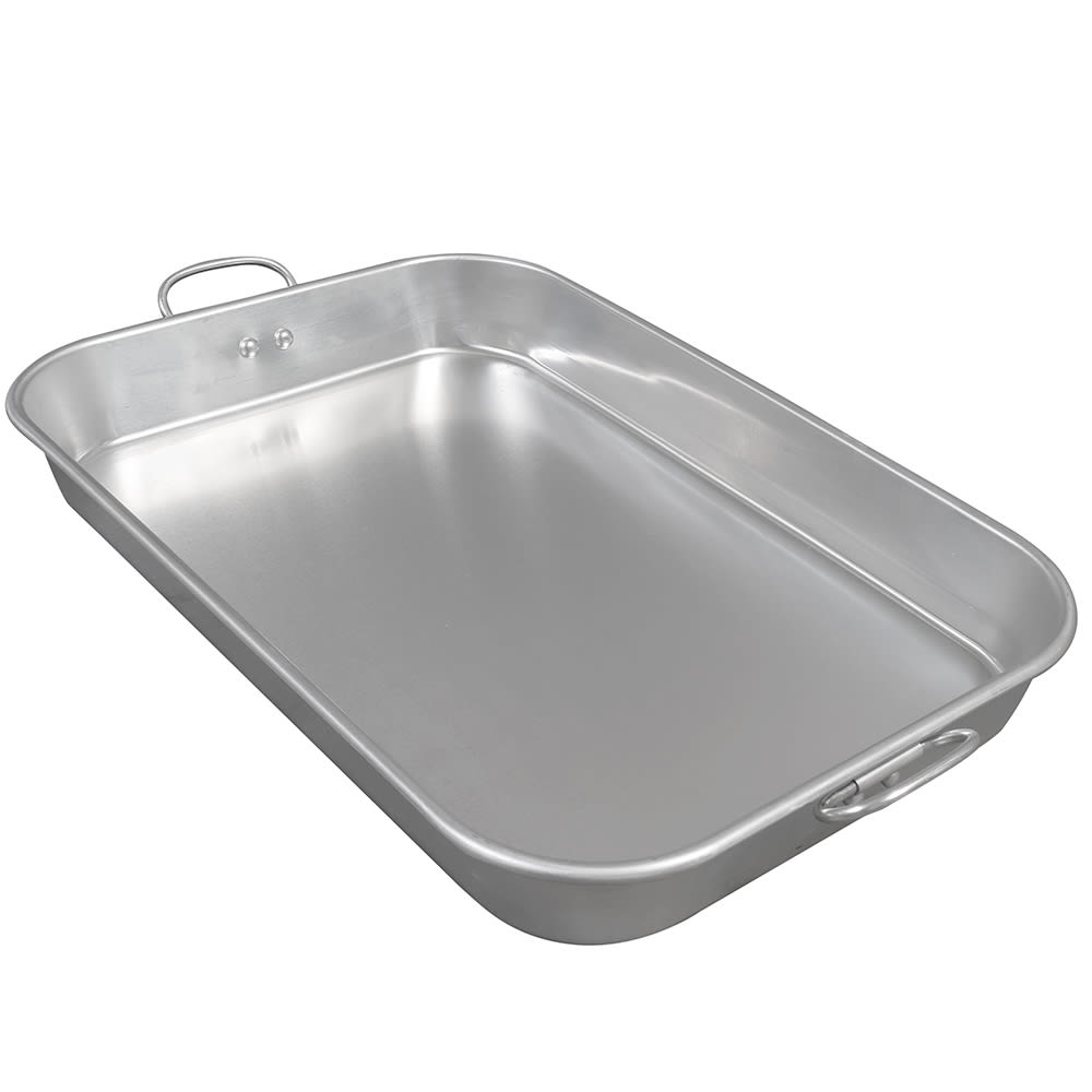 "Update ABP-1218 Bake Pan - Drop Handles, 12x18x2-1/4"" Aluminum"