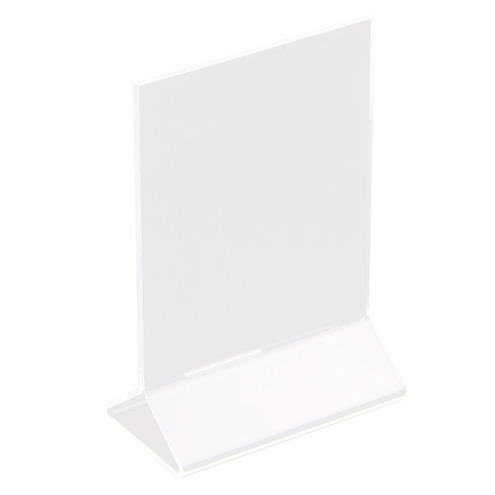 "Update ACH-46 Tabletop Menu Card Holder - 4"" x 6"", Acrylic"