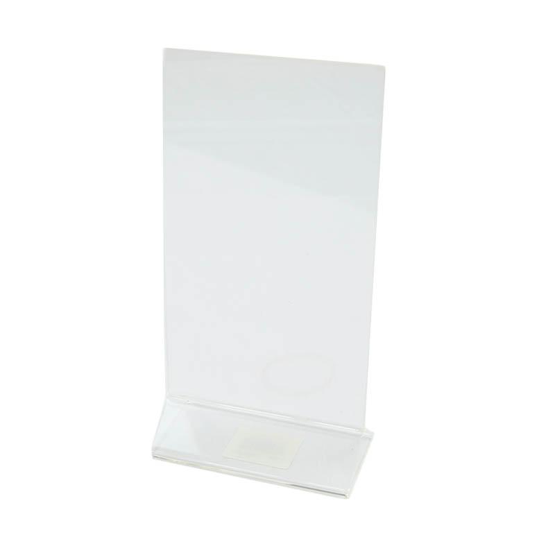 "Update ACH-48 Tabletop Menu Card Holder - 4"" x 8"", Acrylic"
