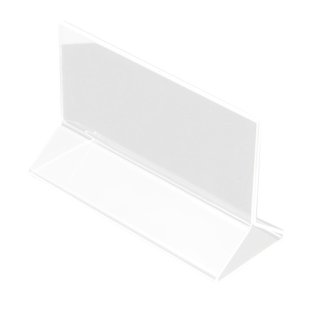 "Update ACH-53 Tabletop Menu Card Holder - 5.5"" x 3.5"", Acrylic"
