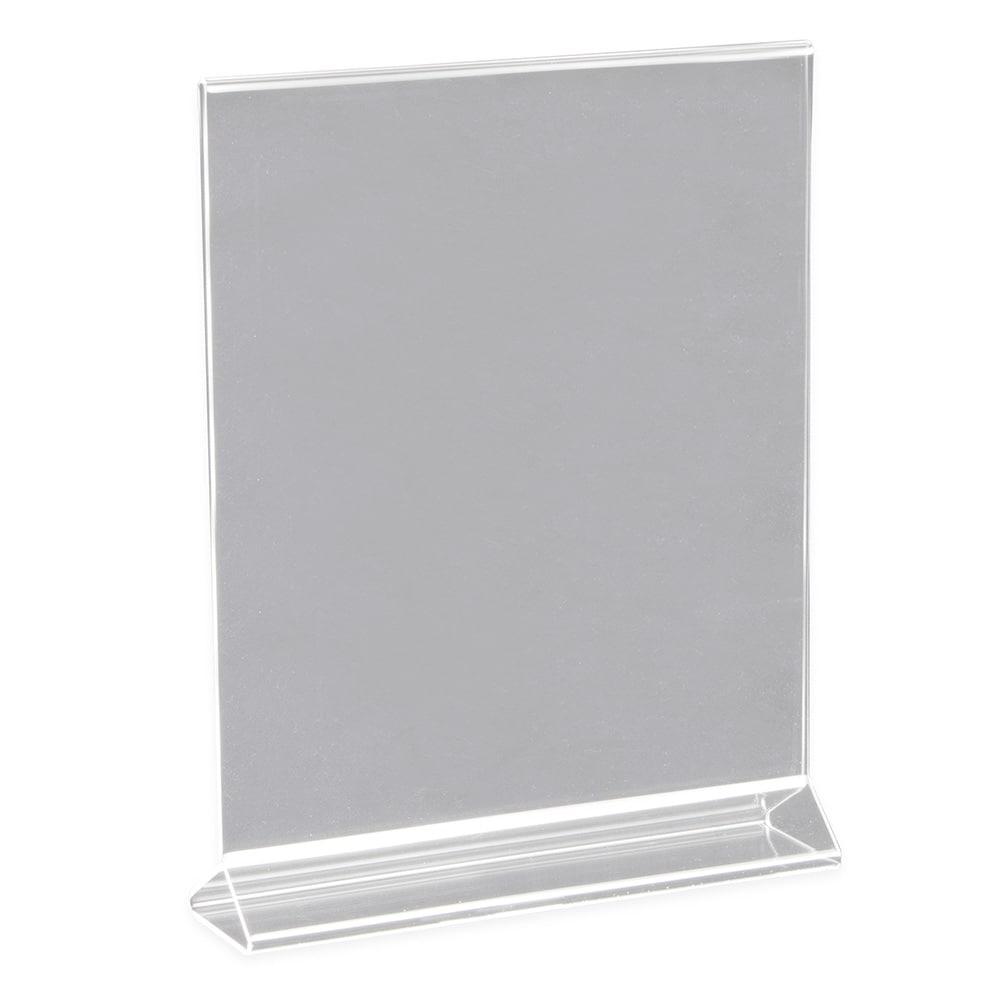"Update ACH-811 Tabletop Menu Card Holder - 8"" x 11"", Acrylic"