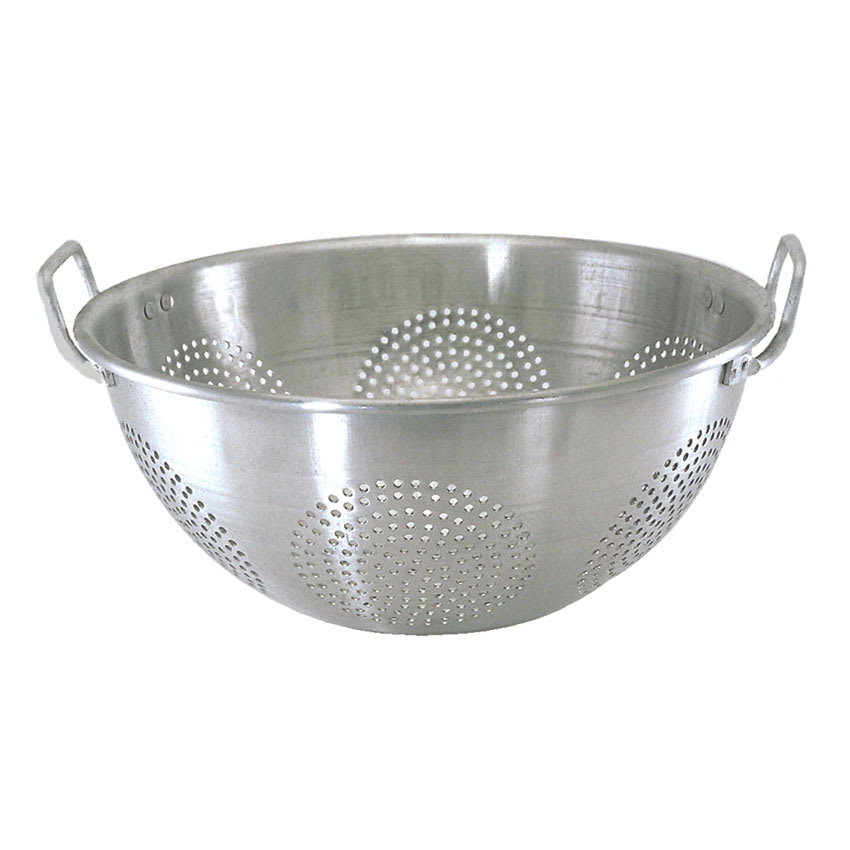 Update ACO-16 16 qt Colander with Handles and Base - Aluminum