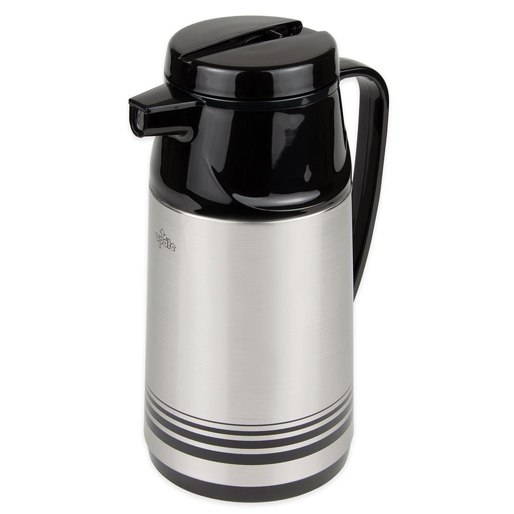 Update AIS-100/SF 33 oz Vacuum Beverage Server - Insulated, Black/Stainless