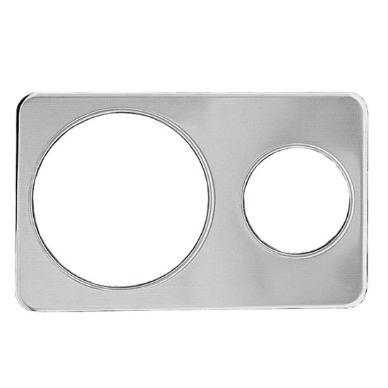 "Update AP-411D Adapter Plate - (1)6 3/8, (1)10 3/8"" Inset, Stainless"
