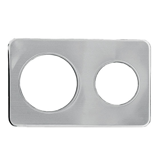 "Update AP-47D Adapter Plate - (1)6 3/8, (1)8 3/8"" Inset, Stainless"