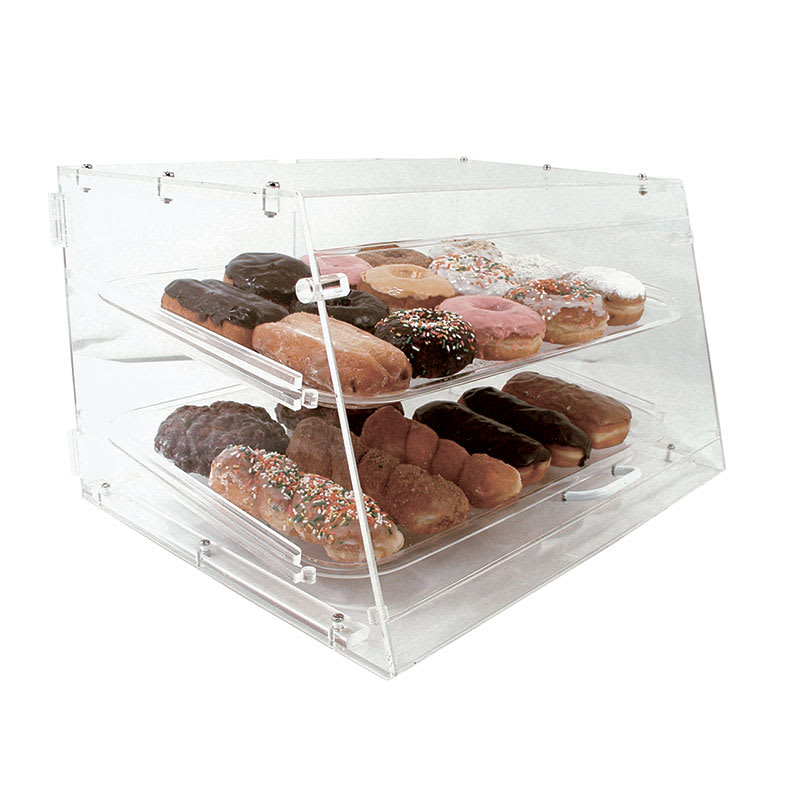 "Update APB-2112FD Pastry Display - Front/Rear Doors, (2)Trays, 21x17 1/4x12"" Clear Acrylic"