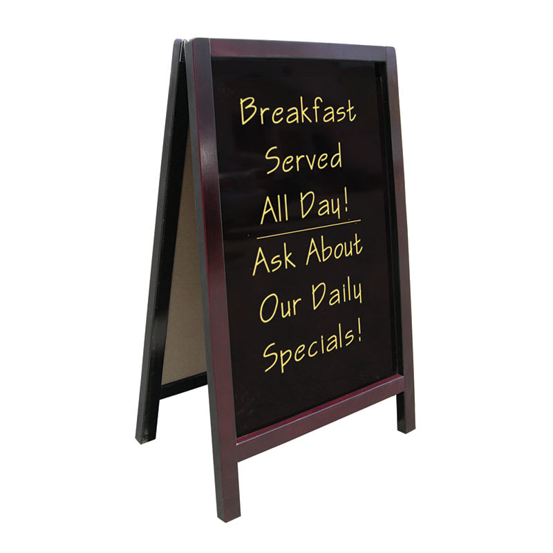 """Update ASIGN-2542 A"""" Style Sign - 25x41-1/2"""" Non-Magnetic, Wood Frame"""