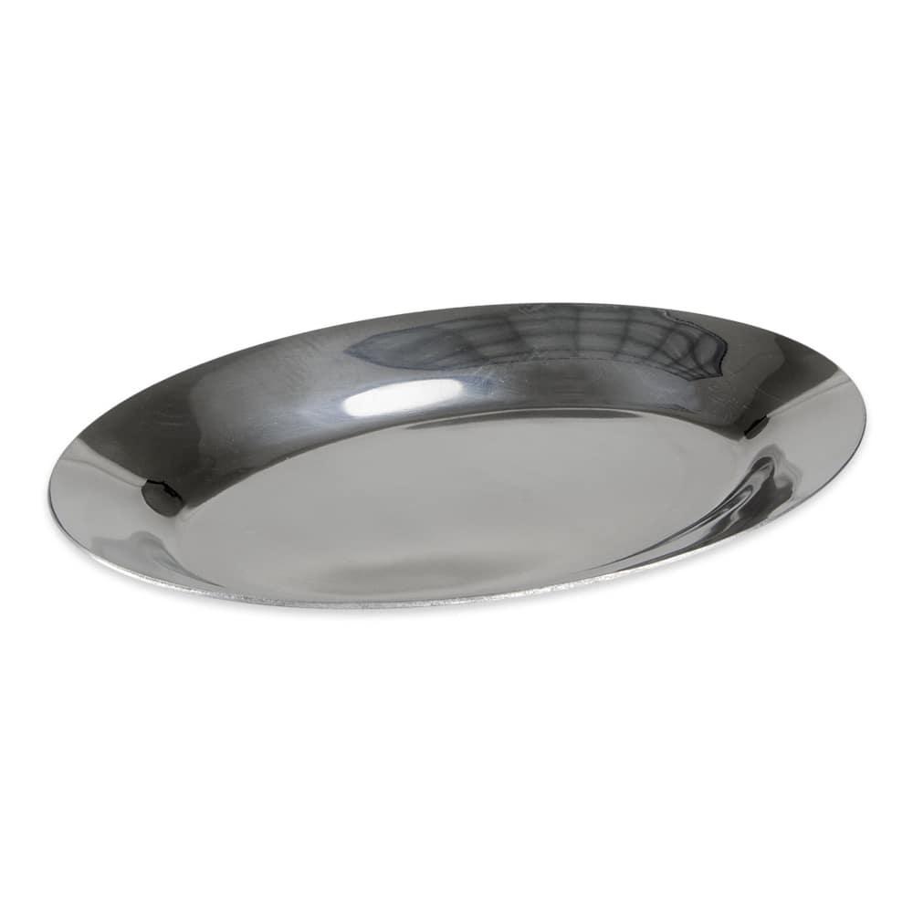 "Update AZP-11 Oval Sizzle Platter- 11 1/2x8"" Aluminum"