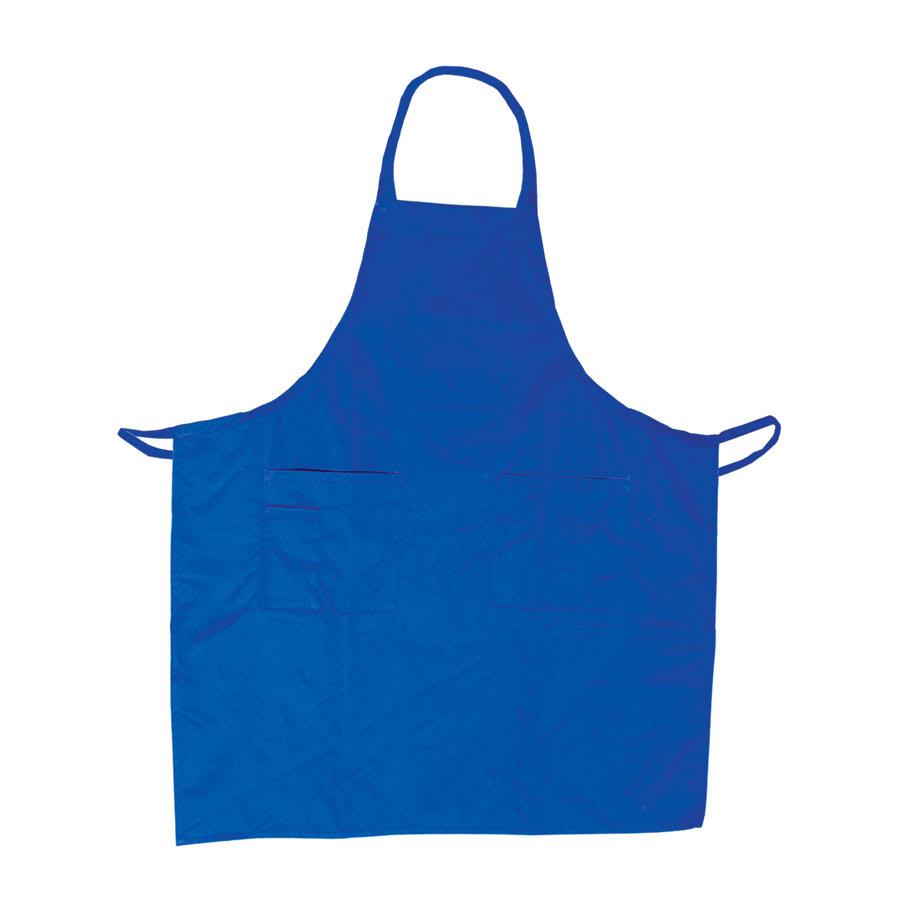"""Update BAP-BL Bib Apron - (3)Pocket, 33x28 1/2"""" Poly/Cotton, Blue"""