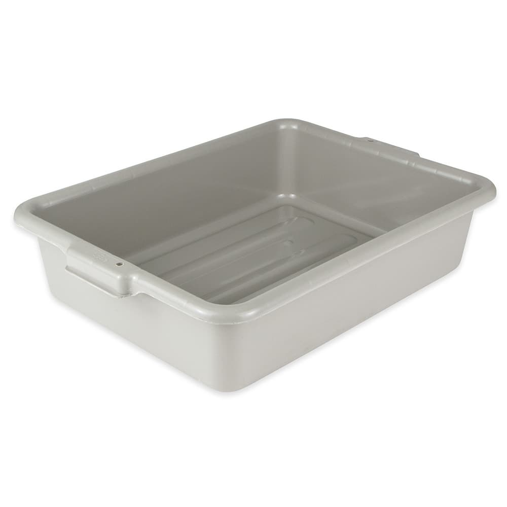 "Update BB-5GN Tote Box - 20 1/2x15 1/4x5"" Polypropylene, Gray"