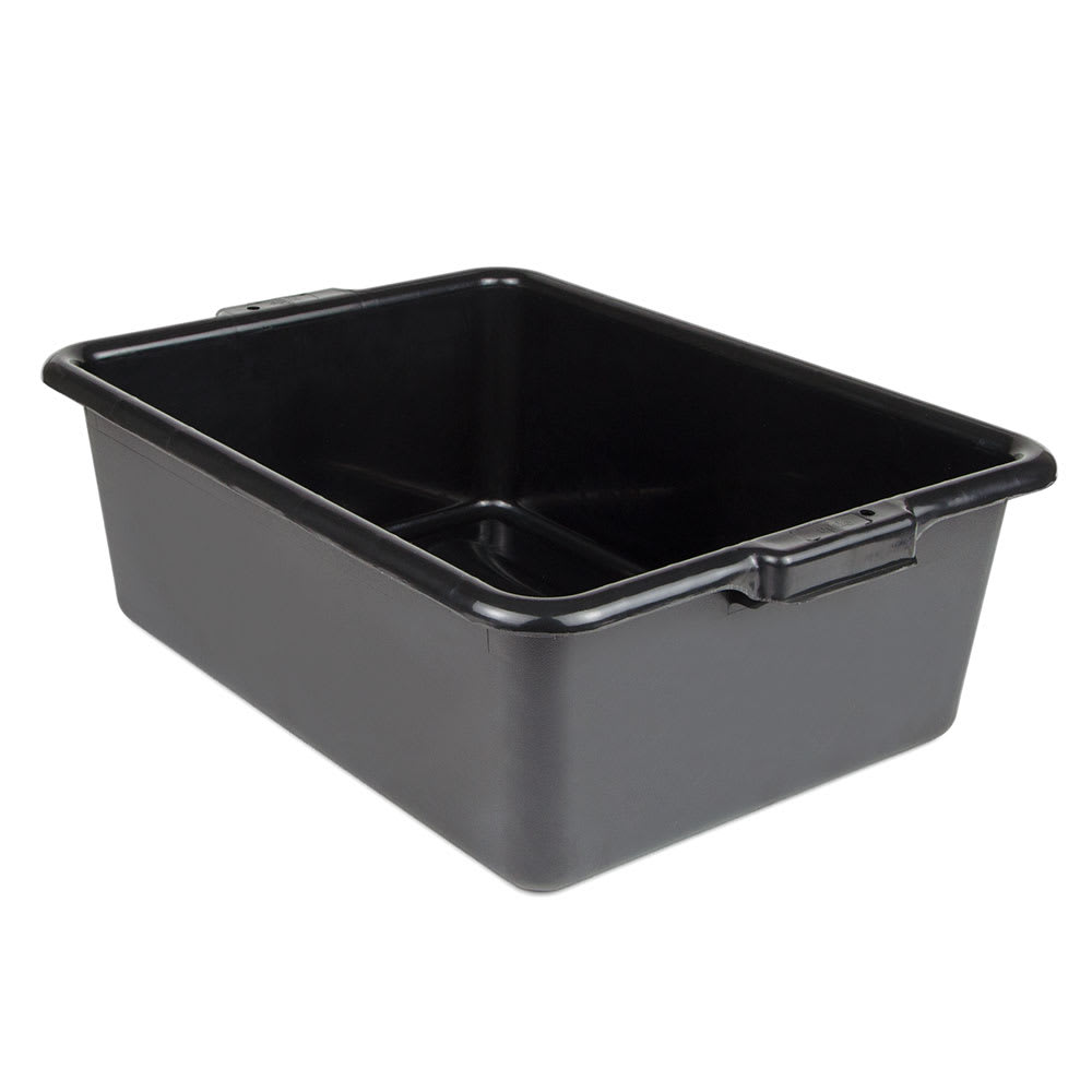 "Update BB-7BN Tote Box - 20-1/2x15-1/4x7"" Polypropylene, Black"