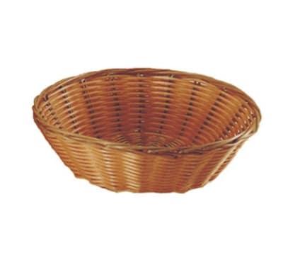"Update BB-8R 8-1/4"" Round Cracker Basket - Polypropylene, Natural"