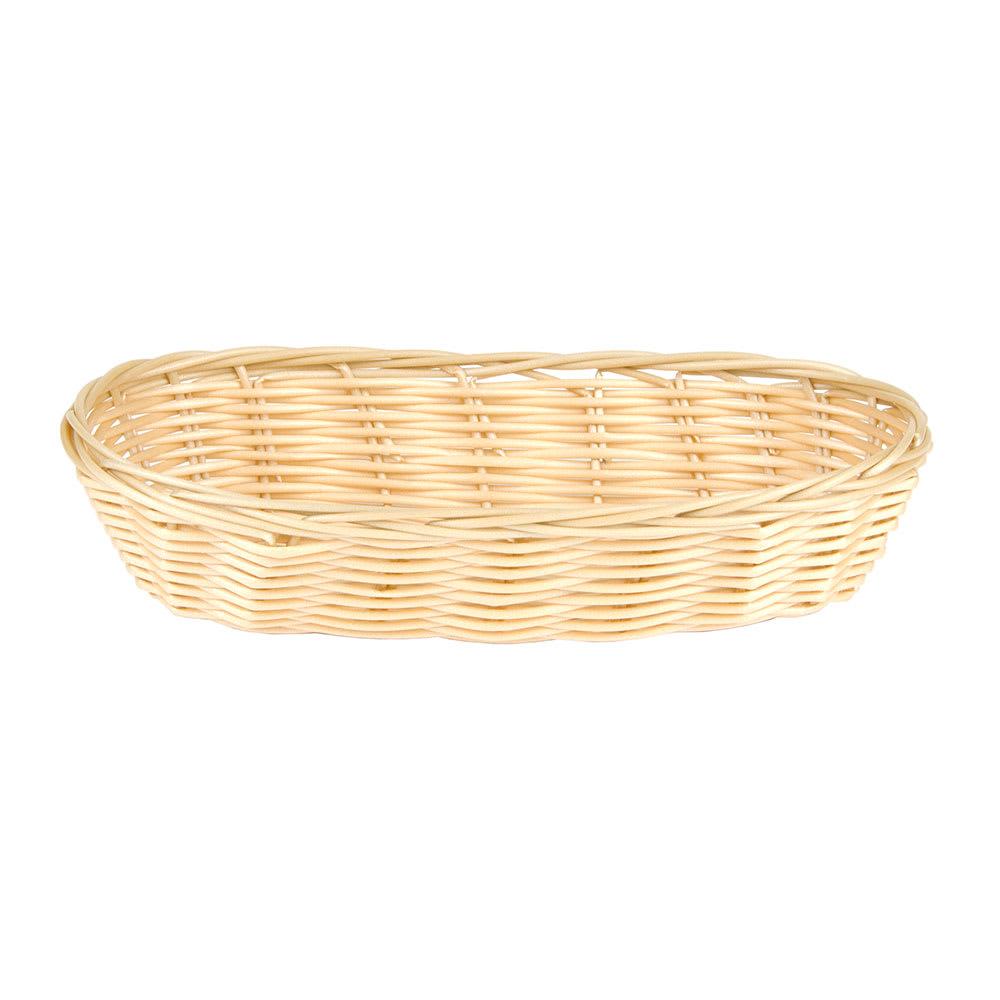 """Update BB-94 Oblong Cracker Basket - 9x3 3/4x2"""" Polypropylene, Natural"""