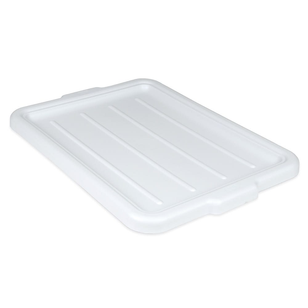 "Update BB-LIDFSN Freezer Safe Tote Box Cover - 20-1/2x15-1/4"" White"