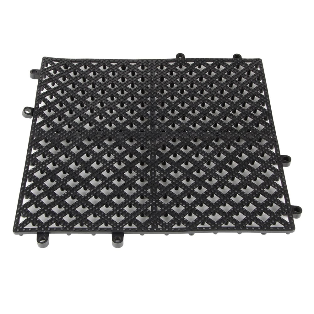 "Update BMI-12BK 12"" Square Bar Mat - Interlocking, PVC, Black"