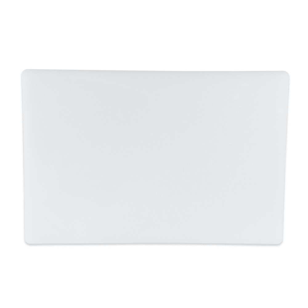 "Update CB-1218H Poly Cutting Board - 12x18x3/4"" White"
