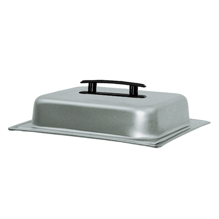 Update CC-2/DCP Half-Size Chafer Dome Cover - Black Handle, Stainless