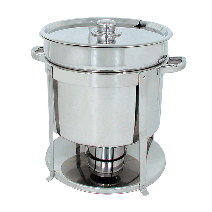 Update CM-18 Round Chafer w/ Lift-off Lid & Chafing Fuel Heat
