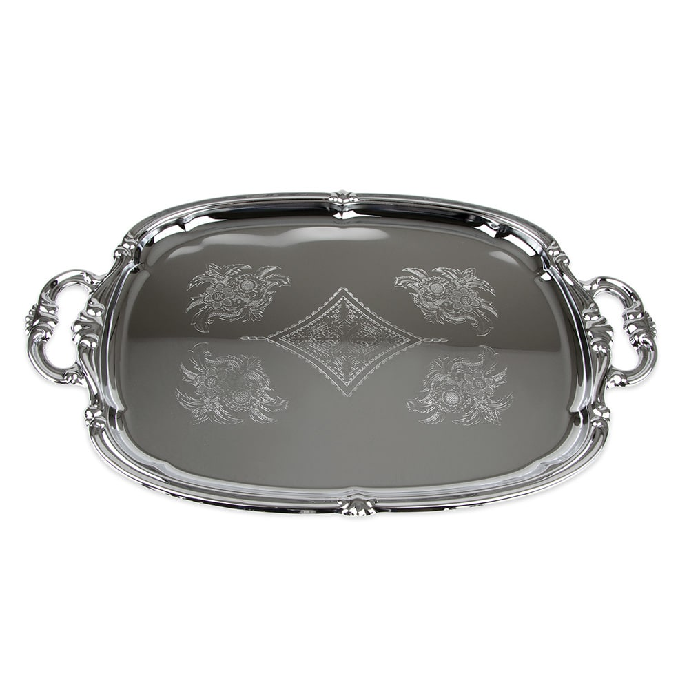 Update CT-1813H Rectangular Chrome Tray with Handles - 18x13