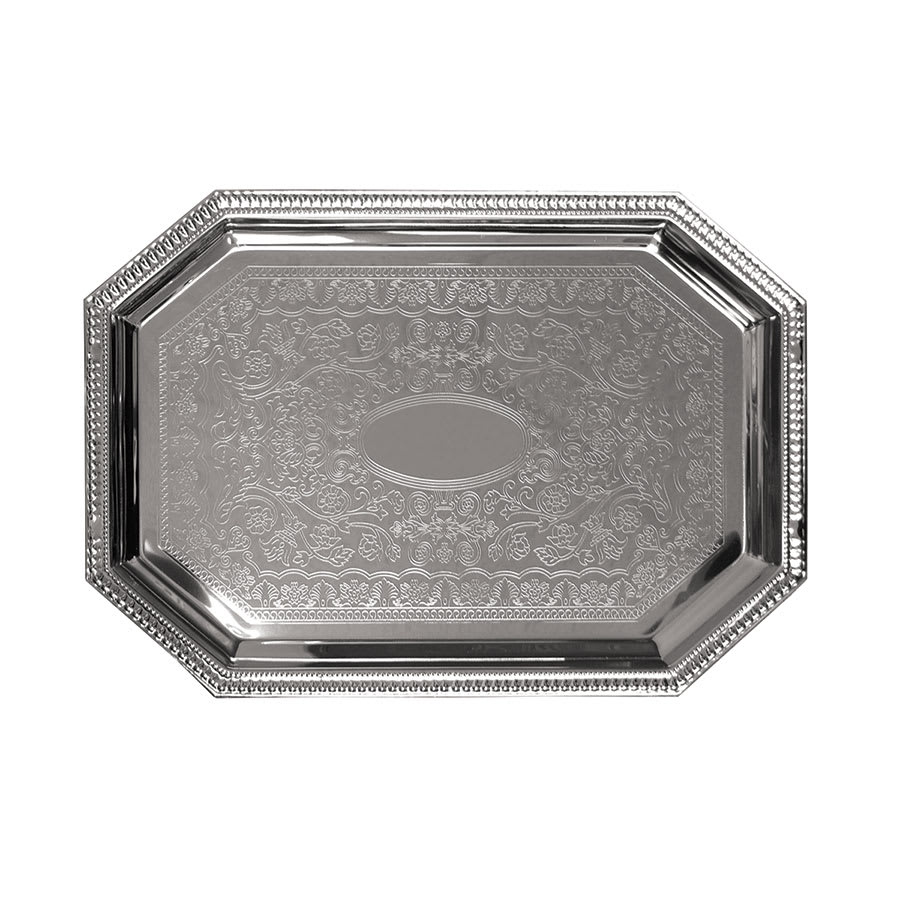 Update CT-2014C Octagonal Chrome Tray - 20 x 14