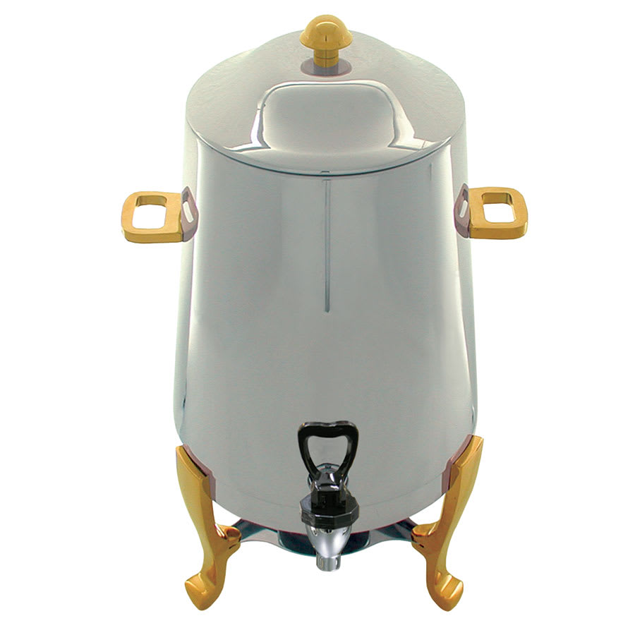 Update CU-30GD 3 gal Coffee Urn - Fuel Holder, Gold Accent, Stainless