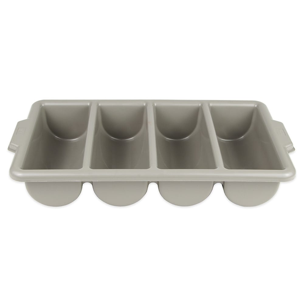 Update CUT-4PPN 4-Compartment Cutlery Box - Polypropylene, Gray