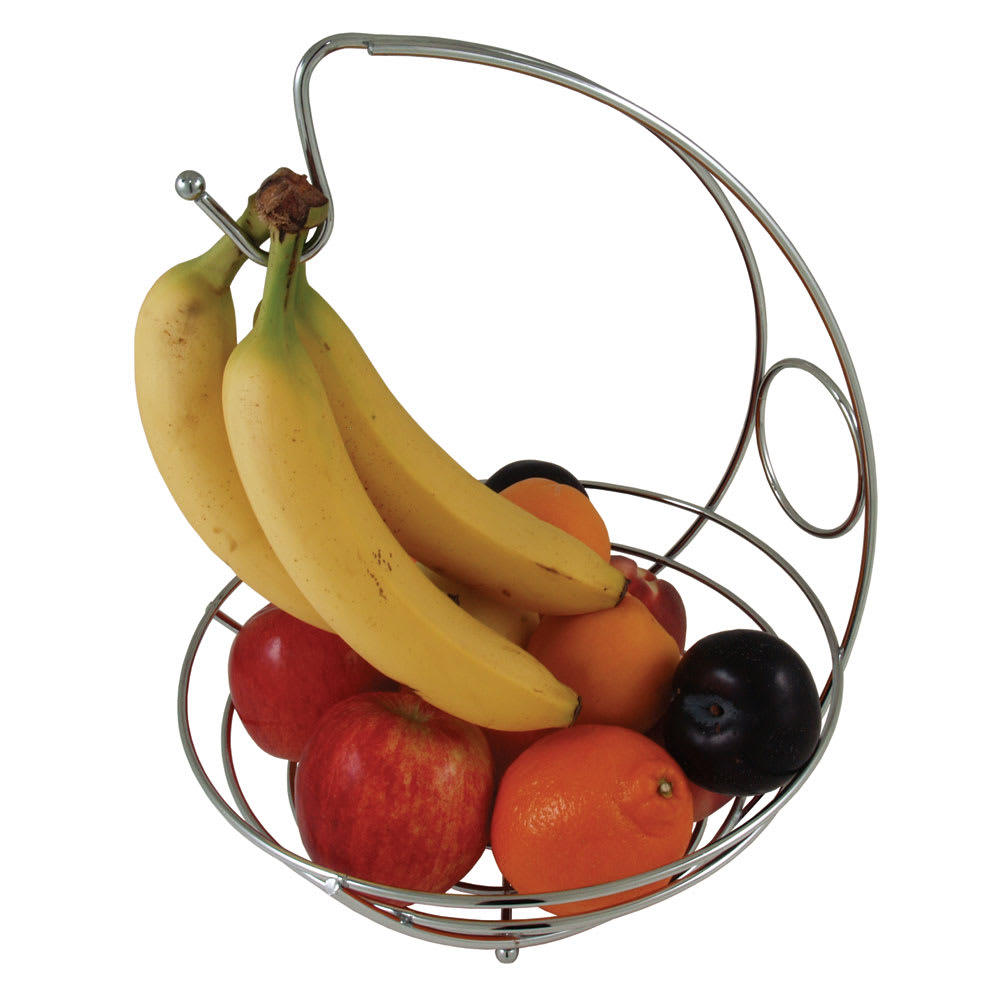 "Update CWB-114H 6-3/4"" Wire Basket with Hanging Hook - Chrome"