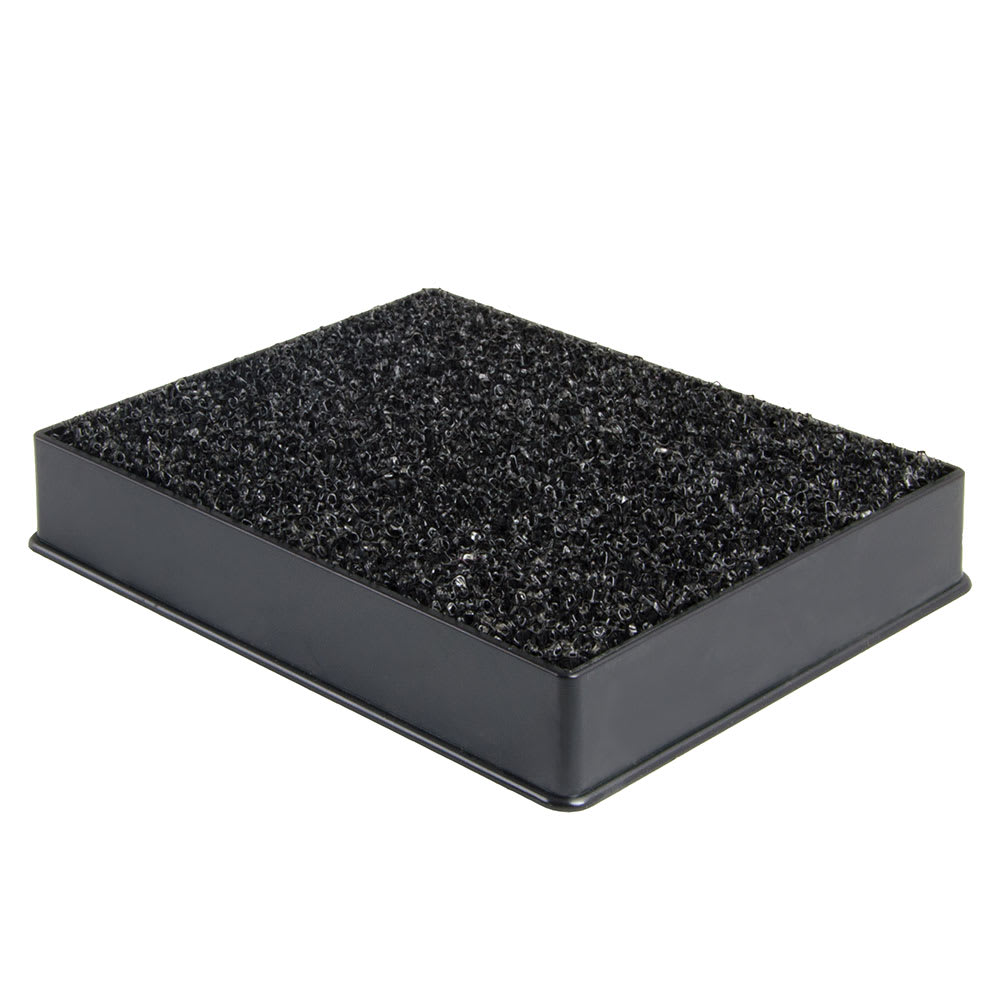 "Update DT-3545 Plastic Drip Tray with Sponge - 4-7/8x3-13/16"" Black"