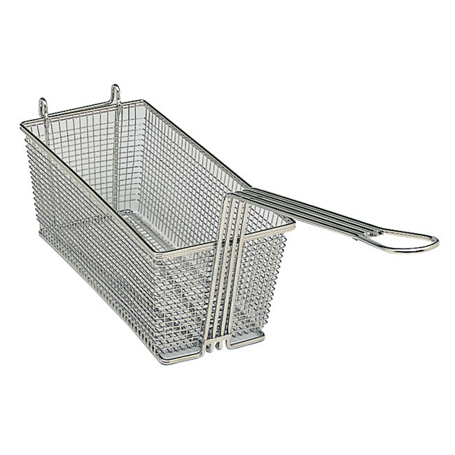 "Update FB-126 Fryer Basket w/ Coated Handle & Front Hook, 12.875"" x 6.5"" x 5"""