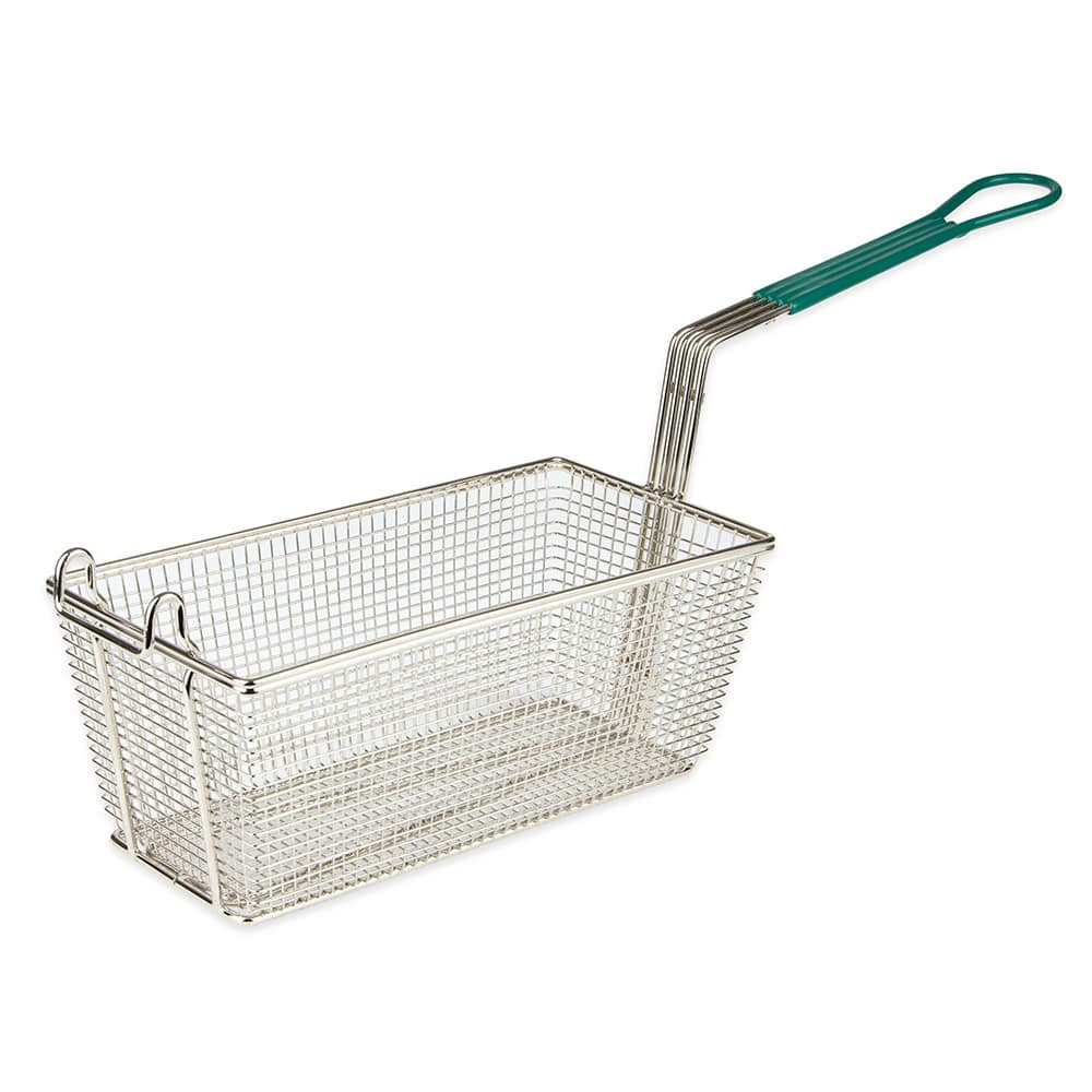 "Update FB-126PH Fryer Basket w/ Coated Handle & Front Hook, 12.875"" x 6.5"" x 5.125"""