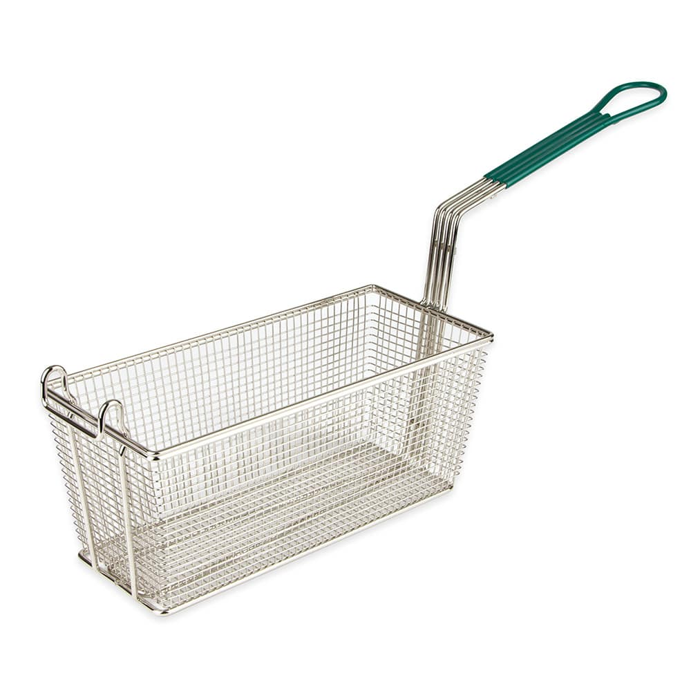 "Update FB-135PH Fryer Basket w/ Coated Handle & Front Hook, 13.25"" x 5.75"" x 5.75"""
