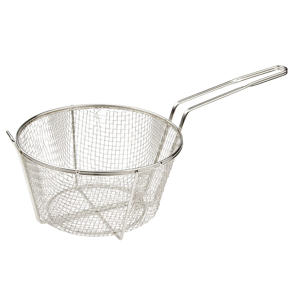 "Update FB-9 Fryer Basket w/ Uncoated Handle, 9.5"" x 9.5"" x 5.5"""