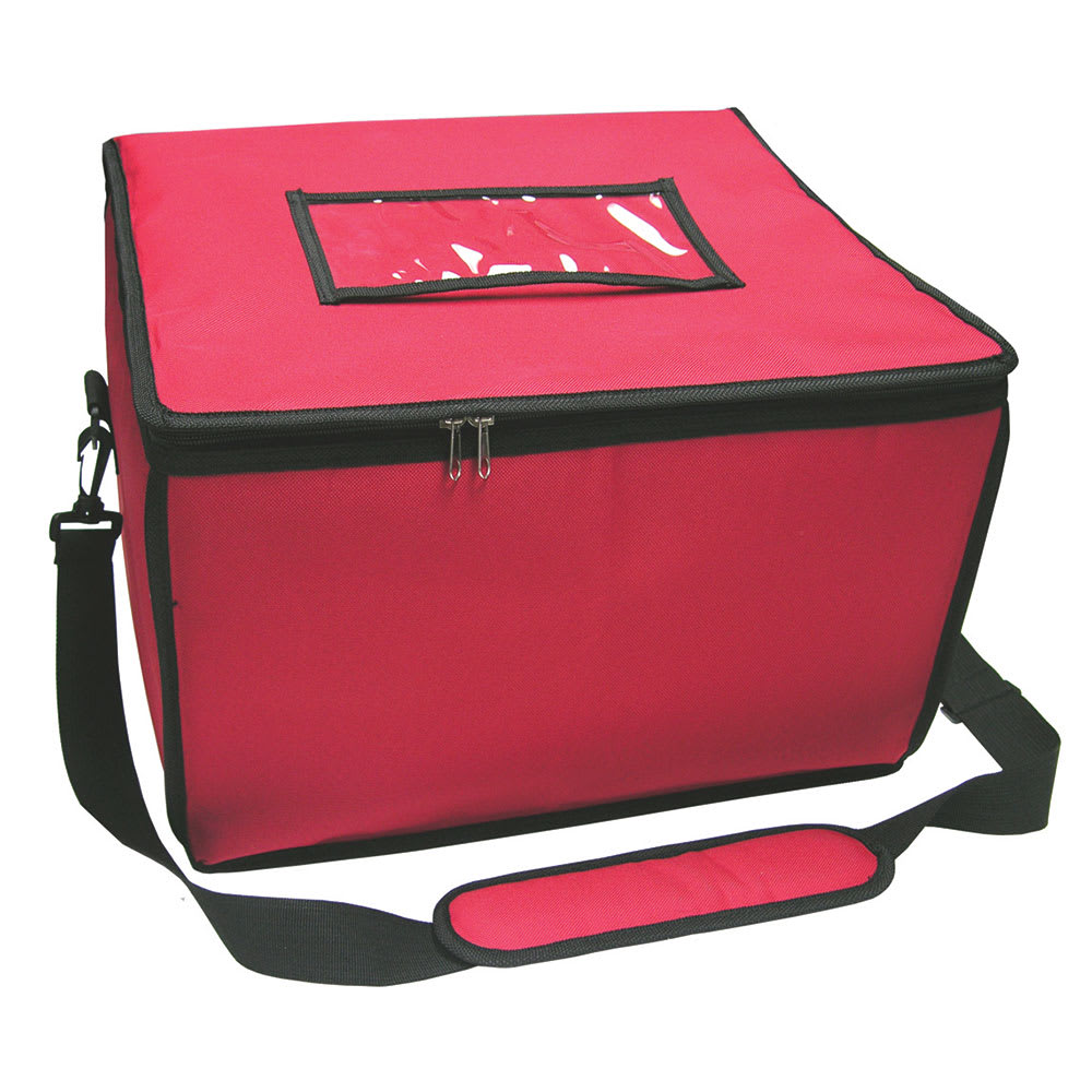 "Update FDB-1614 Update International™ Food Delivery Bag  - 16"" x 14"" x 10"", Nylon, Red"