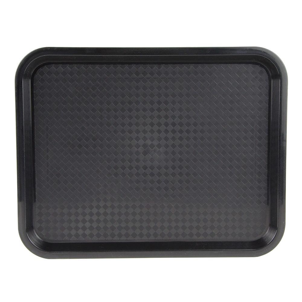 "Update FFT-1014BK Rectangular Fast Food Tray - 10x14"" Black"