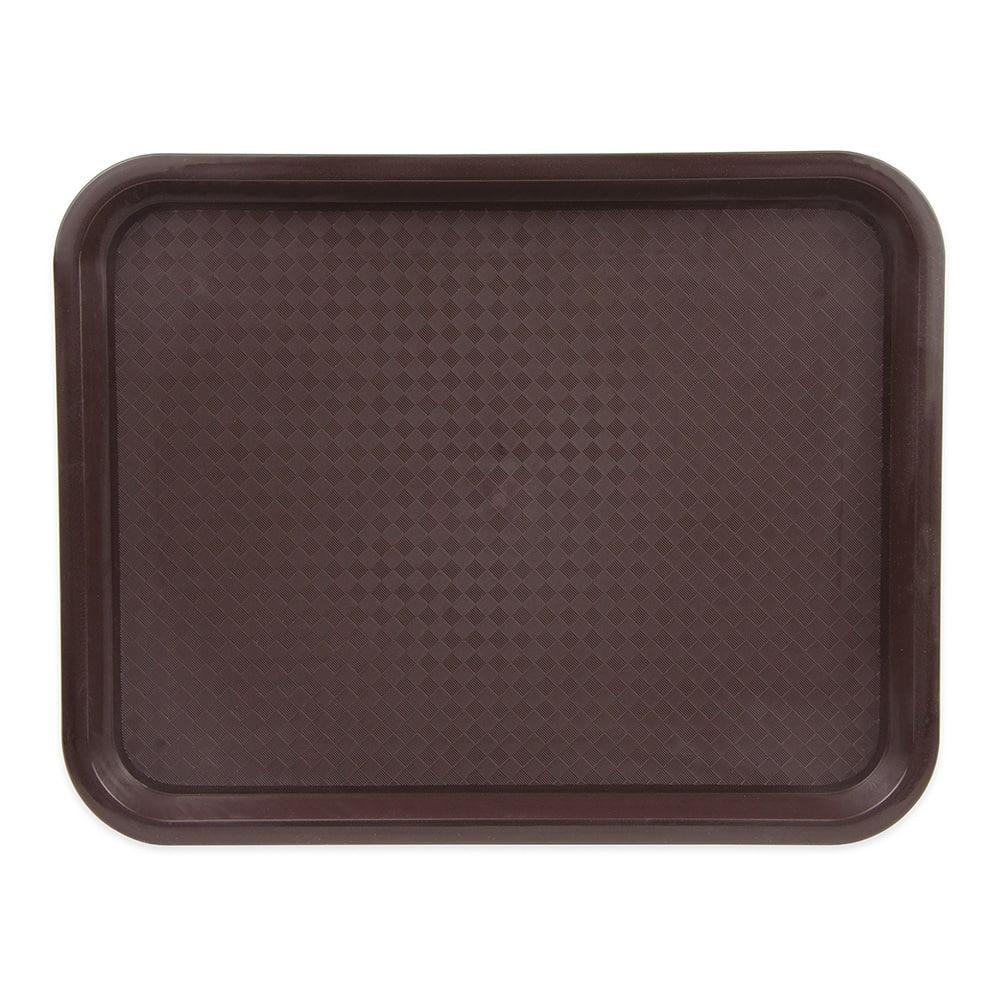 """Update FFT-1014BR Plastic Fast Food Tray - 14""""L x 10""""W, Brown"""