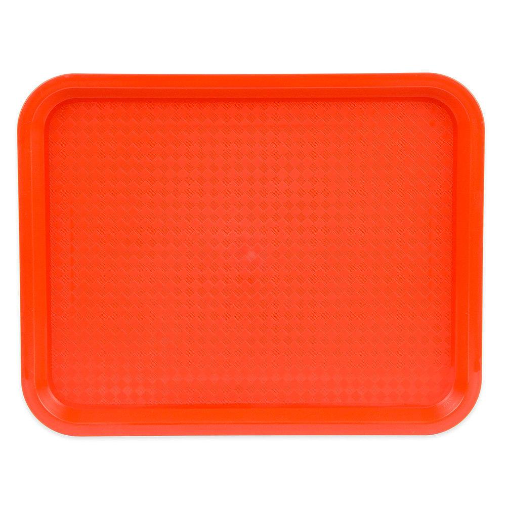 "Update FFT-1014OR Rectangular Fast Food Tray - 10x14"" Orange"