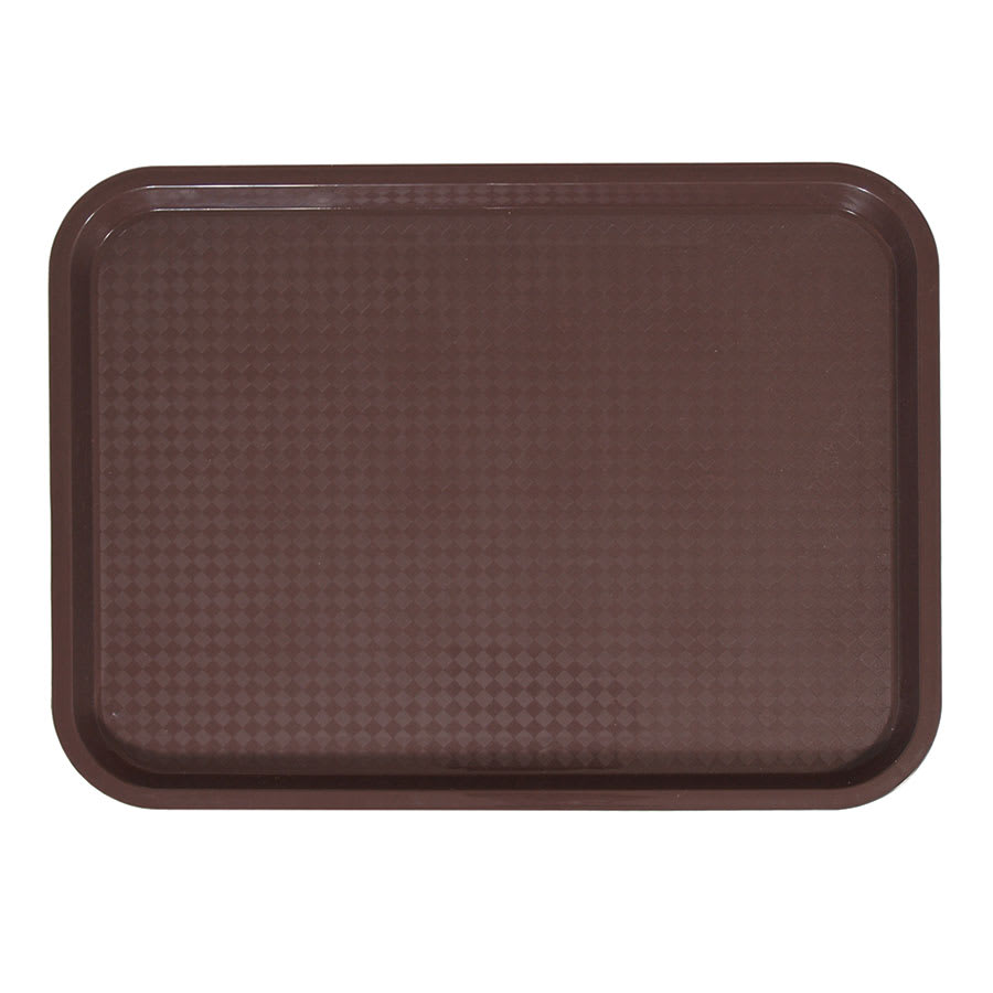 "Update FFT-1216BR Rectangular Fast Food Tray - 12x16"" Brown"