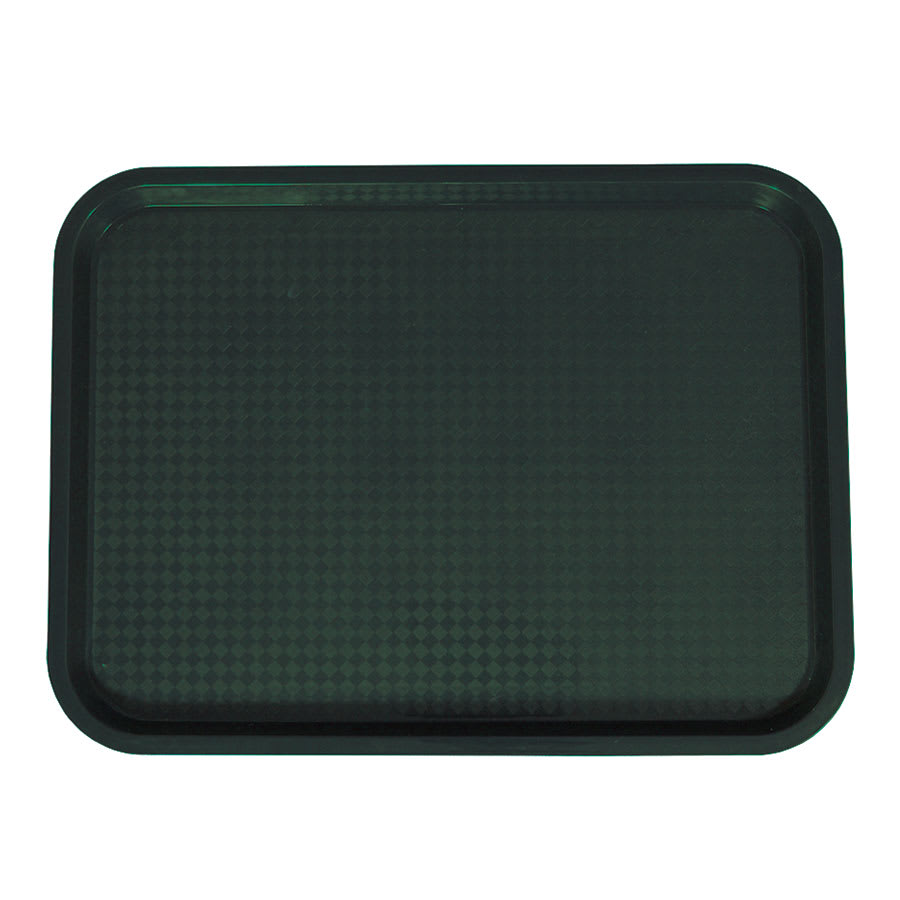 "Update FFT-1216GR Rectangular Fast Food Tray - 12x16"" Green"