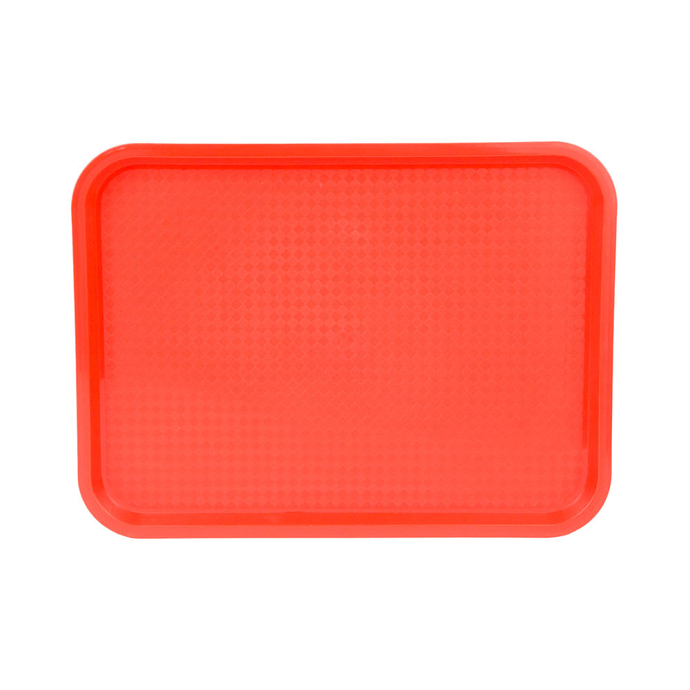 "Update FFT-1216OR Rectangular Fast Food Tray - 12x16"" Orange"