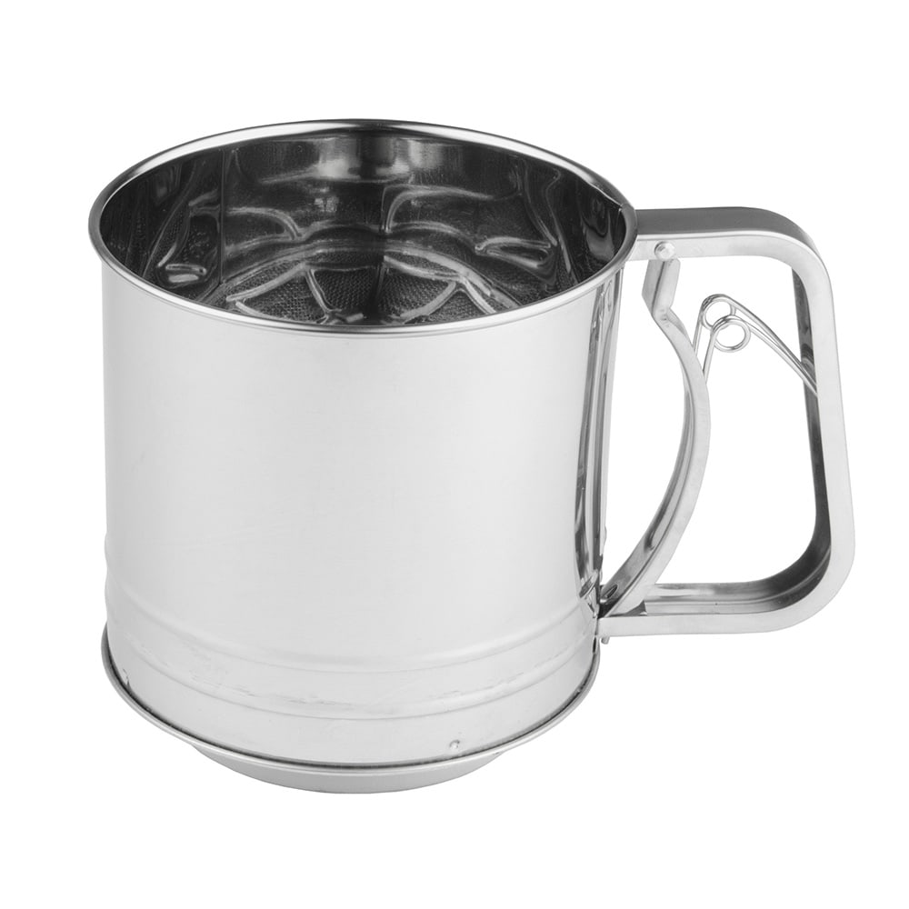 Update FS-4C 4 Cup Flour Sifter w/ Squeeze Handle, Stainless