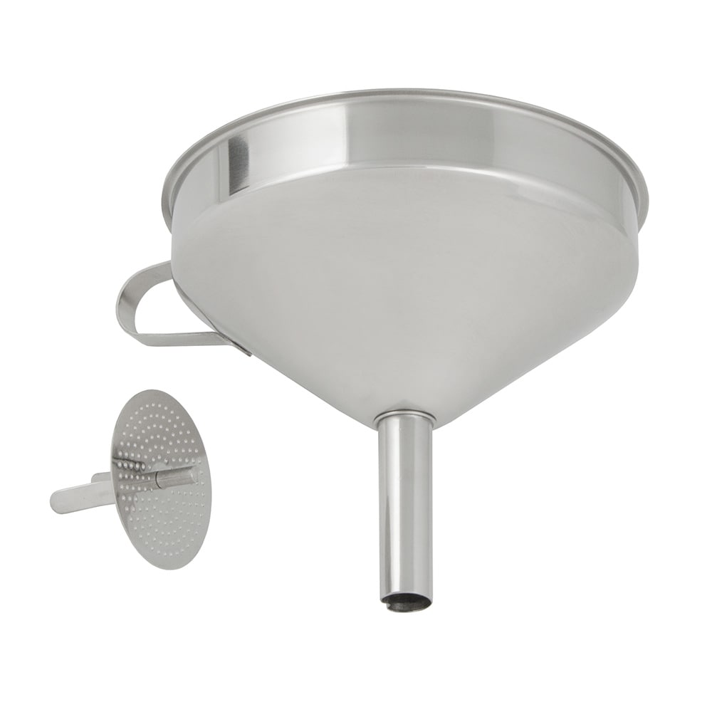 "Update FSV-6S 5 3/4"" Funnel with Removable Strainer - Stainless"