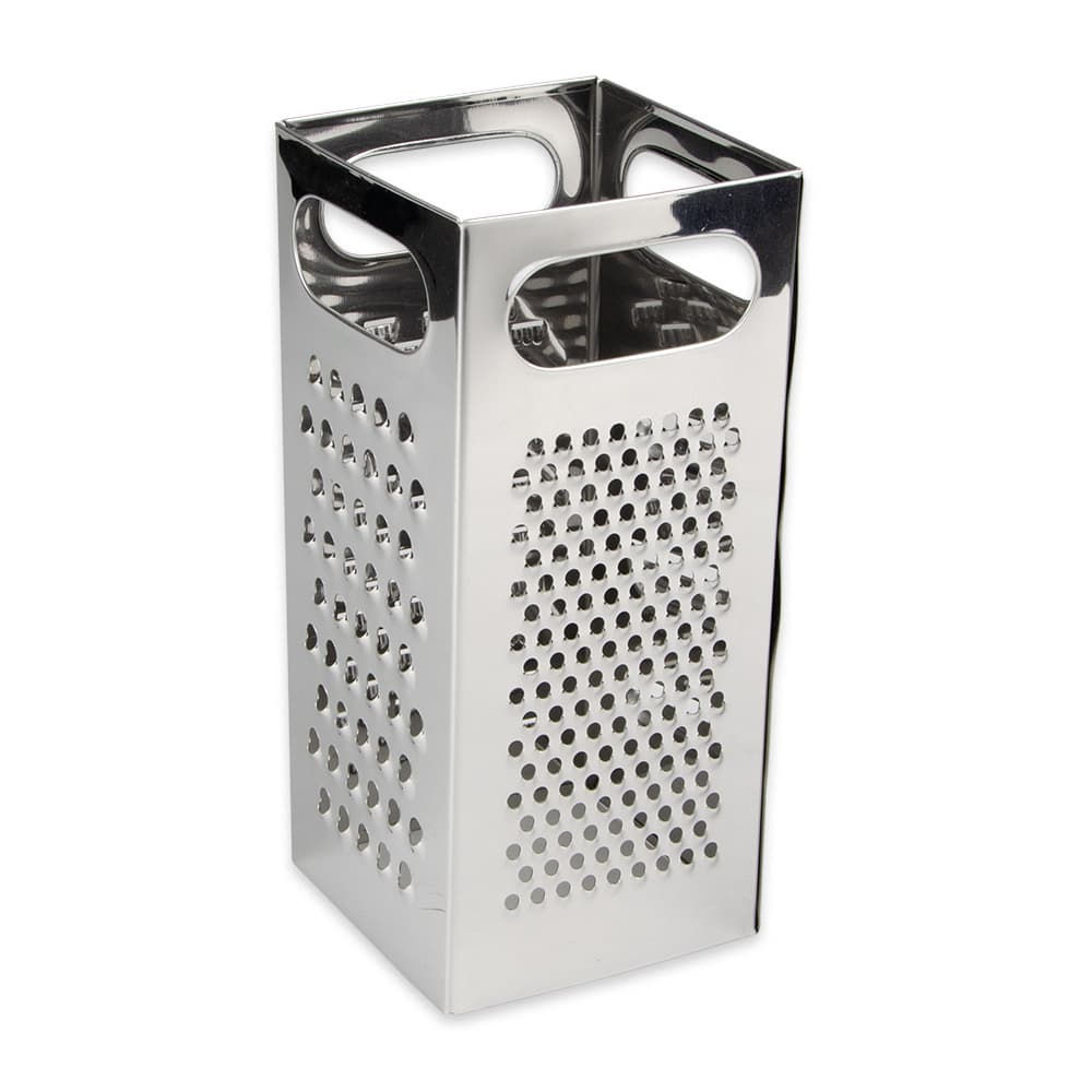"Update GR-449 4 Edge Grater - 4 1/4x4 1/4x8 3/4"" Stainless"