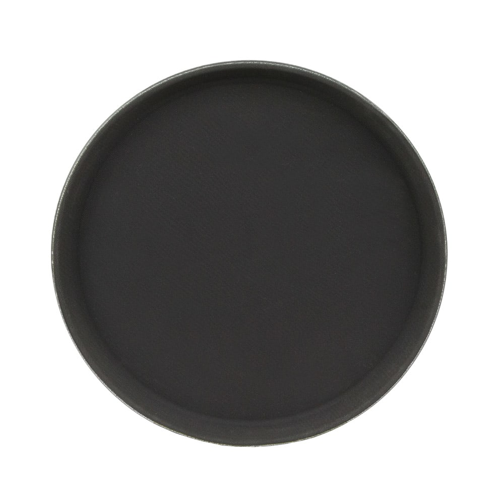"Update GT-1100BK 11"" Round Grip Tight Tray - Black"