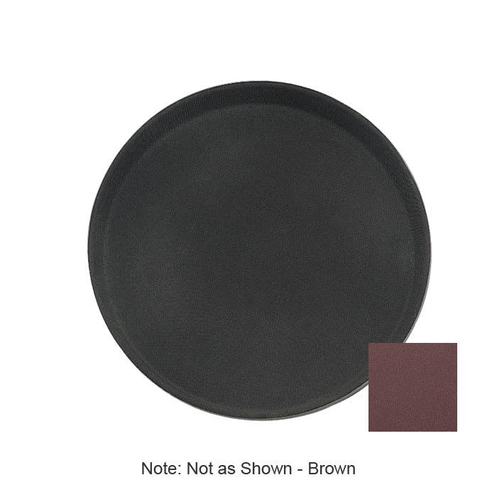 "Update GT-1400BR 14"" Round Grip Tight Tray - Brown"