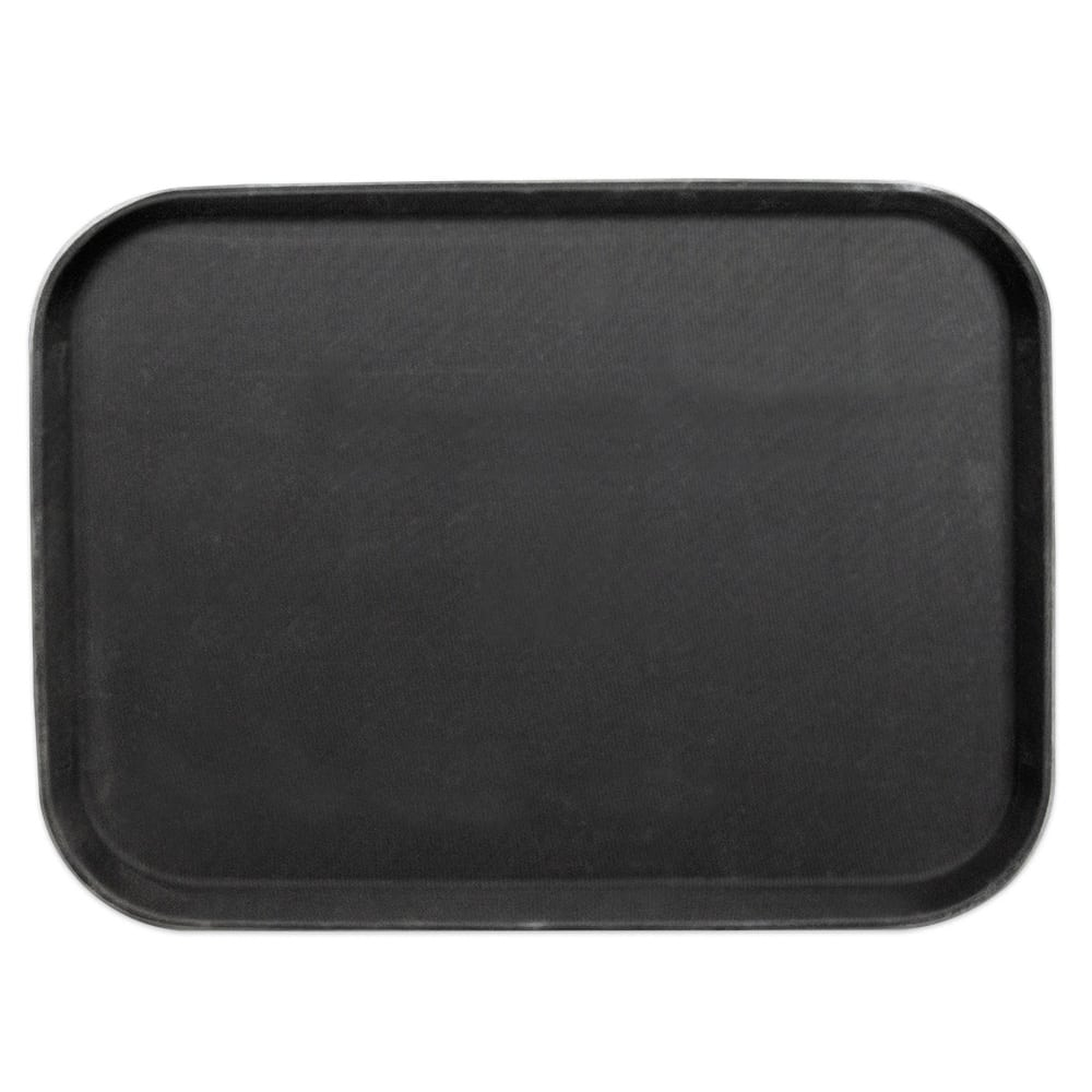 "Update GT-1418BK Rectangular Grip Tight Tray - 14x18"" Black"