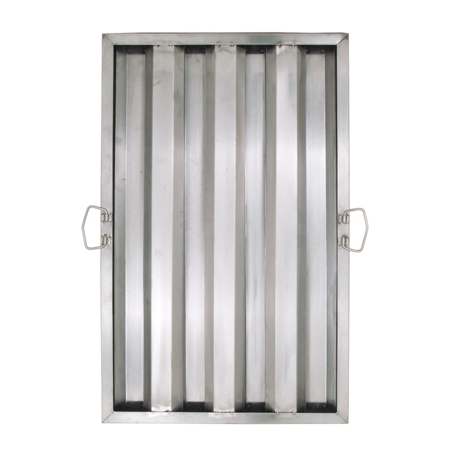 "Update HF-1625 Hood Baffle Filter - 15.5"" x 24.5"", Stainless"