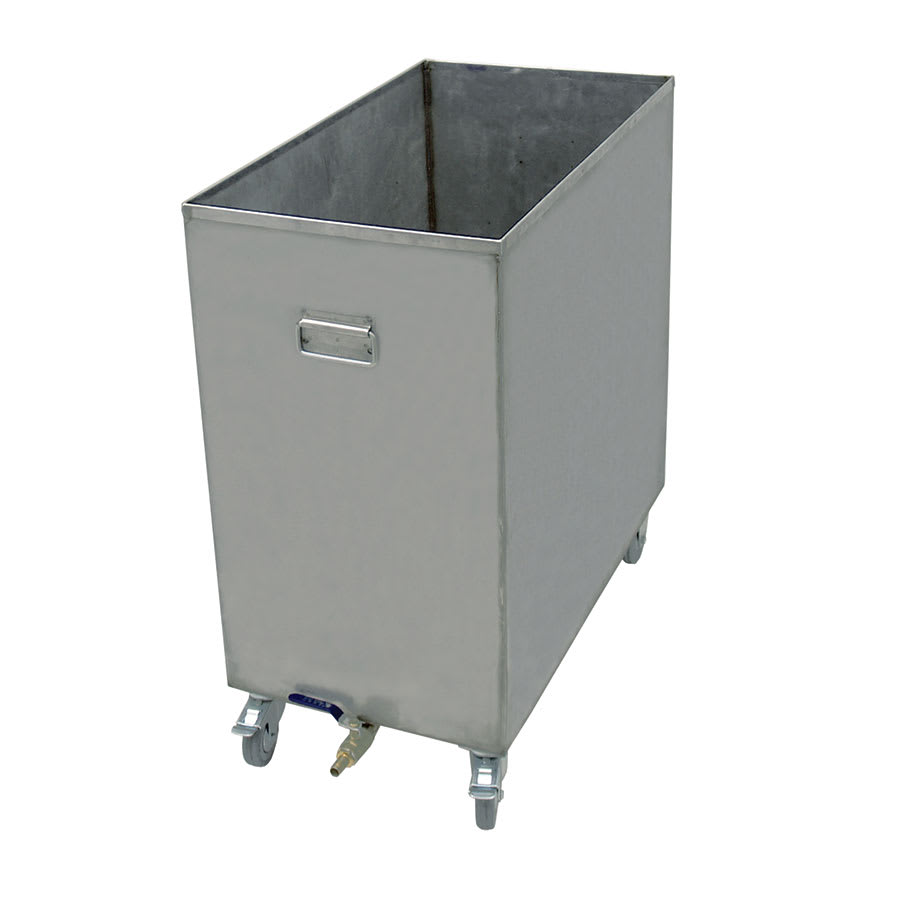 """Update HFSC-6 16-gal Hood Filter Soak Cart - 25-2/8x13-7/8x27-3/8"""" Stainless"""